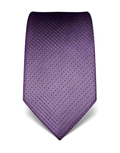 Vincenzo Boretti Herren Krawatte reine Seide gepunktet edel Männer-Design zum Hemd mit Anzug für Business Hochzeit 8 cm schmal/breit lila