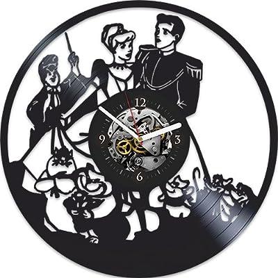 Cinderella Vinyl Wall Clock, Cinderella, Vintage Vinyl Record, Cinderella Birthday Gift, Xmas Gift For Kids, Disney Clock, Disney Gift, Gift For Fans Cinderella, Cinderella Xmas Gift, Wall Clock Large