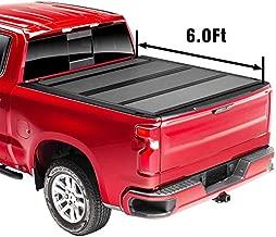 Upgraded Flip Fiberglass Tonneau Cover, Hard Folding Waterproof Truck Bed - Fits 2019-2021 Ford Ranger 6' 1