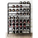 54 Bottle Connoisseurs Deluxe Large Foldable Black Metal Wine Rack Cellar Storage Organizer Display...