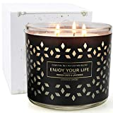 YMing Scented Candles for Home Aromatherapy Jar Candle Gifts Set for Women Soy Wax 3 Wick 14.5oz 125 Hours Juniper and Lavender