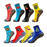 HOOPOE Pack Calcetines Running Divertidos, 8 Pares, Hombres, Mujer, sin Costuras, Térmicos, Talla 36-40