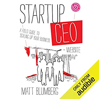 Startup CEO audiobook cover art