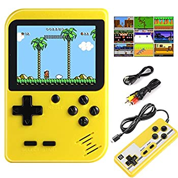 Diswoe&e Handheld Game Console Portable Retro Game Player With 400 Classical FC Games 2.8-Inch Color Screen Handheld Gameboy Support TV Two Players 800mAh Rechargeable Battery Gift for Kids and Adult