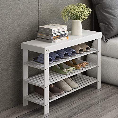 CENPEN Simple zapatero Multi-capa a prueba de polvo madera maciza bambú estante de almacenamiento de casa económico zapatos blancos rac