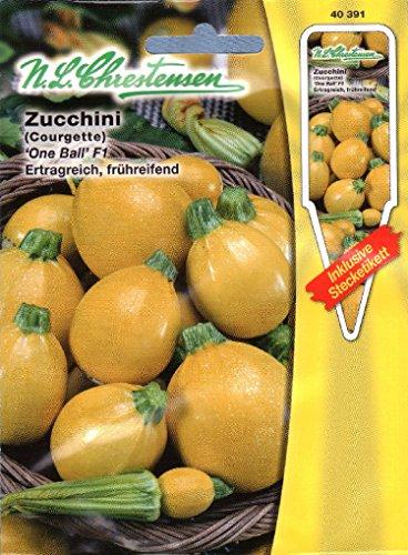 Zucchini One Ball F1 (Portion inkl. Stecketikett)