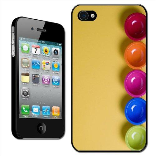 Fancy A Snuggle hard case/beschermhoes voor Apple iPhone 4 / 4S (opsteekbaar, voor achterkant van de mobiele telefoon, motief - gekleurde schalen), rood/oranje/roze/blauw