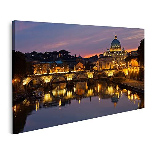 Cuadro en Lienzo La Basílica de San Pedro en Roma al Atardecer Cuadros Modernos Decoracion Impresión Salon