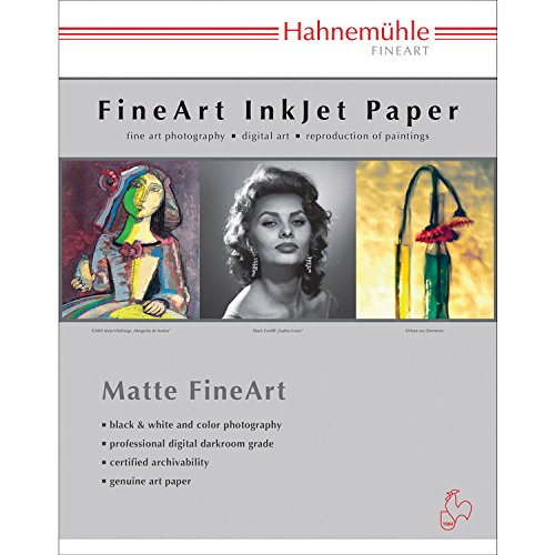 Hahnemuhle William Turner Deckle Edge fine Art matt Paper 8 1/8x11 25 Sheets 310gsm