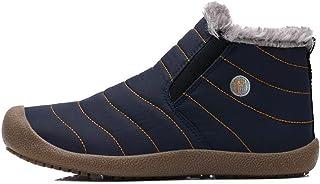 ICHUANGDIANZI Bottes De Neige Montantes en Velours, Chaussures en Coton Chaudes Et Imperméables Source (Color : Blue Low T...