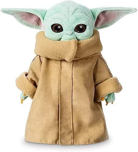 dbsdfvd Juguetes de Peluche de bebé Yoda para niños, bebé mandaloriano Yoda,Star Wars El Niño muñeco de Peluche Maestro-Cian (12inch)
