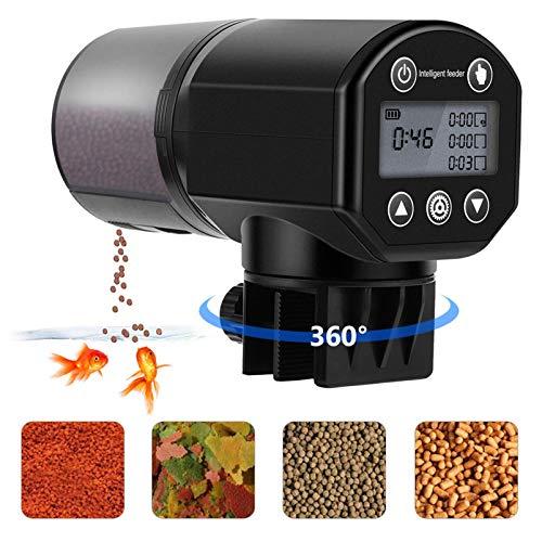 Barkmew – Comedero automático para acuario, dispensador automático de comida para peces, 200 ml, para acuario, tanque de peces