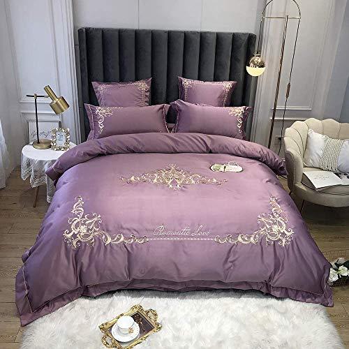 Conjuntos de tapa de edredones Conjunto de ropa de cama King Tamaño Gris Cubiertas de edredones de cama doble Conjuntos de cama blanca Tamaño del rey 100% Juego de ropa de cama de algodón 100% Cubiert