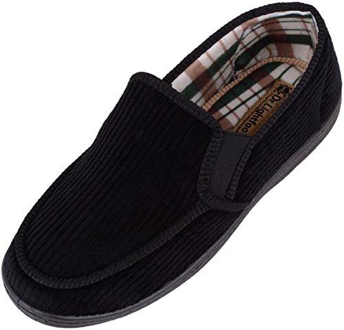 ABSOLUTE FOOTWEAR Heren Dr Lightfoot Zacht Koord Slip Op Slippers/Indoor Schoenen met Memory Foam binnenzool