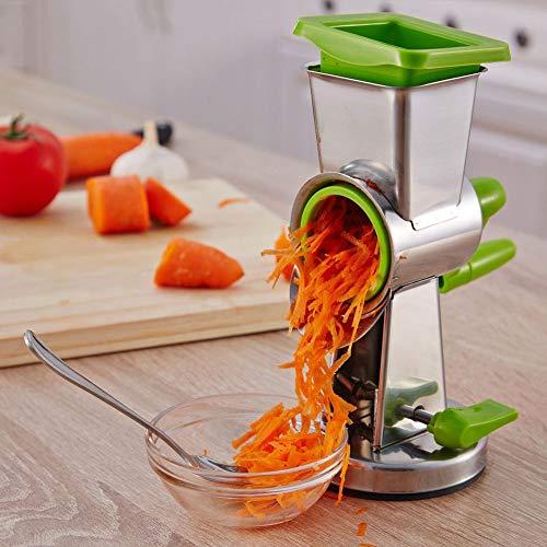 Mandolinas de cocina Manual multifuncional Cortador de verduras Zanahoria de patata Balancín de mano Rallador rotativo Trituradora Trituradora Utensilios de cocina para ensalada de frutas y verduras