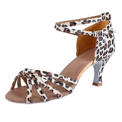 Keenso Zapatos latinos para salón de baile de salón de baile para...