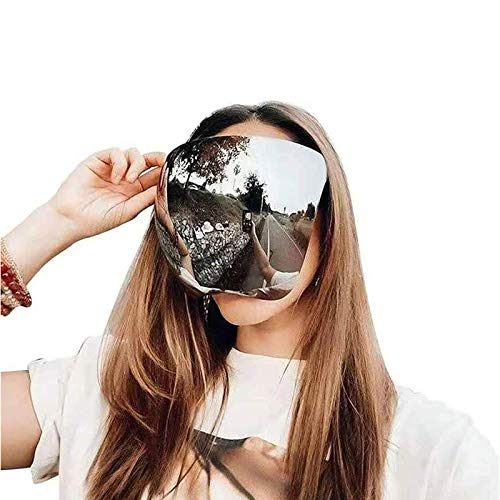 ZAYALI Oversized Huge Big Mask Shield Full Face Polarized Large Mirror Sunglasses,Face Shield Sunglasses, Shield Visor Sunglasses, Flat Top Mirrored Mono Lens, UV Protection (A)