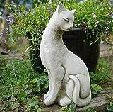 Statue de chat siamois B   Pierre reconstituée Animal Béton Décoration de jardin