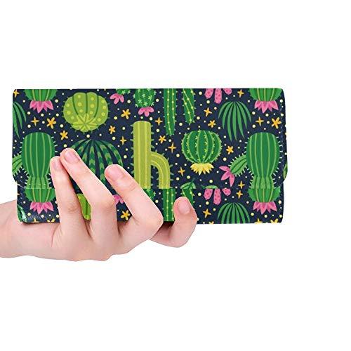 Einzigartige Verschiedene Kaktus-helle Frauen-dreifachgefaltete Mappen-Lange Geldbeutel-Kreditkarte-Halter-Fall-Handtasche