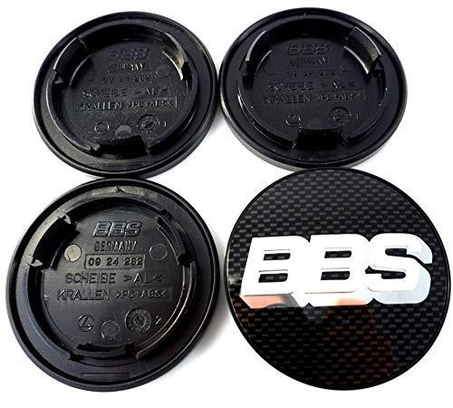4x BBS Felgendeckel Symbolscheibe Emblem Carbon Silber 70mm BB0924282 NEU ohne Sprengring