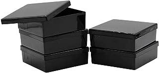 Blotting Boxes, Square, Black, Removable Lid, 8.6 x 8.6 x 2.8cm, 10 Boxes/Unit