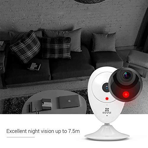 Ezviz ezCube Pro 1080p Telecamera di Sorveglianza, Prima Generazione, WiFi IP Interno Wireless, Audio Bidirezionale, Baby Monitor, Visione Notturna, Servizio di Cloud, Compatibile con Alexa