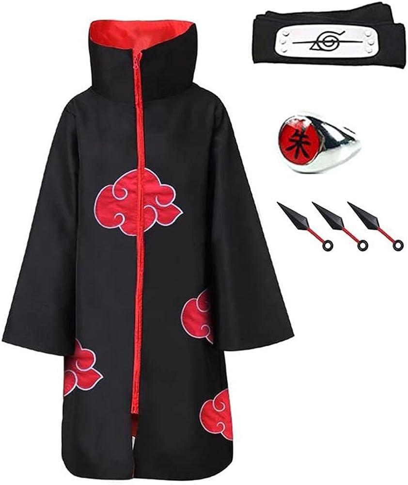 Akatsuki Cloak Itachi Uchiha Costume Anime Sale Special Price Long Cosplay Uniform 35% OFF