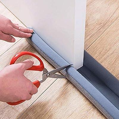 JJK Draft Stopper Flexible Door Bottom Sealing Strip Guard Wind Dust Threshold Seals Draft Stopper Twin Door Decor Protector Doorstop Draft This Will Better Improve Your Quality of Life