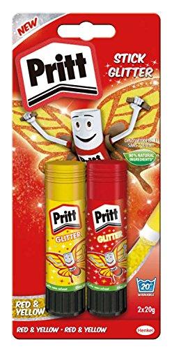 Pritt Glitter Stick in rot und gelb 2 x 20 g