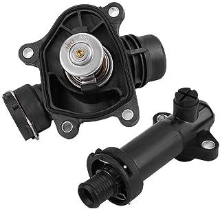 Dromedary 11537510959 Carcasa de termostato con termostato para refrigerante 1 E81 E87 Serie 3 E46 E90 E91 E92 X1 E84 X3 E83 Z4 Roadster E85