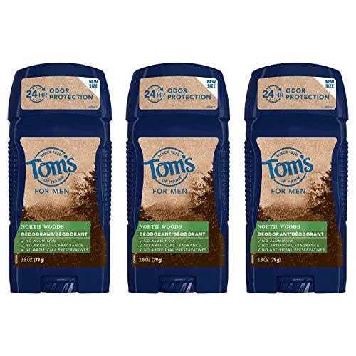 Tom's of Maine Long-Lasting Aluminum-Free Natural Deodorant for Men, North Woods, 2.8 oz. 3-Pack
