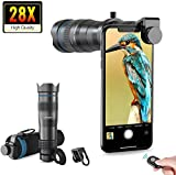 Apexel HD Cell Phone Lens-28X Telephoto Lens with Shutter for iPhone Samsung,Huawei,Xiaomi,Android Smartphone,Monocular