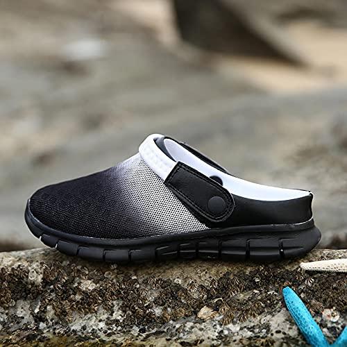 Zapatillas Casa Chanclas Sandalias Zapatos De Verano Sandalias De Hombre Para Parejas Coloridas Zapatillas De Playa Zapatillas De Deporte Para Hombre Zuecos Hombres Transpirables 6 Blackwhite928