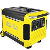 XtremepowerUS Super Quiet 3000 Watt Digital Inverter Powered Generator Camping Gas Power Generator Electric Key Start (USB Outlet) w/Wheels