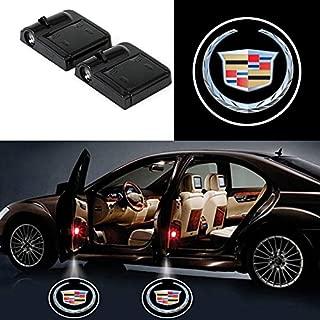 Bearfire 2 Pcs Wireless Car Door Led Welcome Laser Projector Logo Light Ghost Shadow Light Lamp Logos (cadillac)