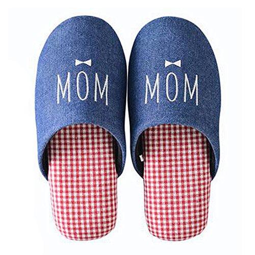 Famille d'hiver et chaleureux Chaussures Indoor Couples Maison Cartoon Slipper, E