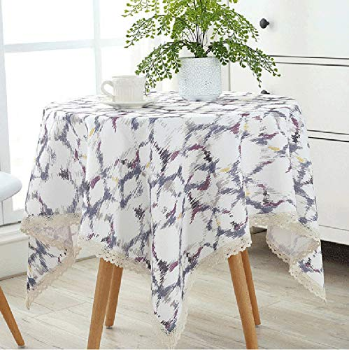 A-tablecloth Manteles-hogar Fundas de Tela, Resistente al Agua, Resistente al Calor, a Prueba de Aceite, frigorífico, Lavadora, microondas Cubierta de Polvo (Talla : 120cm)
