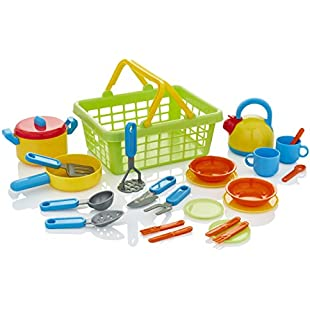 KiddyPlay Cook & Serve Kitchen Basket Playset:Lidl-pl
