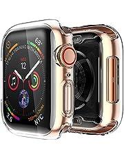 [2 pack] Funda Apple Watch 40mm Series SE 6 5 4, Protector Pantalla iWatch case Protección Completo Anti-Rasguños Ultra Transparente Funda Suave TPU, para Nueva Apple Watch Series SE 6 5 4 40mm