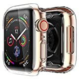 [2 pack] Funda Apple Watch 40mm Series SE 6 5 4, Protector Pantalla iWatch case Protección Completo Anti-Rasguños Ultra Transparente Funda Suave TPU, para Nueva Apple Watch Series SE 6 5 4 40mm