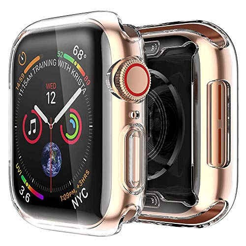 [2 Pack] Cover Apple Watch Series SE 6 5 4 40mm, iWatch Custodia Protettore Schermo Tutto Intorno Chiarissimo Morbido TPU Paraurti Pellicola Protettiva Case, per Apple Watch Series SE 6 5 4 40mm