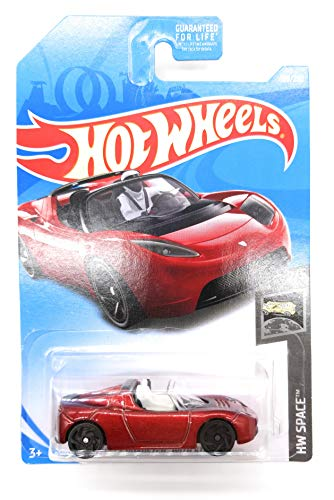 Hot Wheels 2019 HW Space Tesla Roadster with Starman Figure 109/250, Maroon