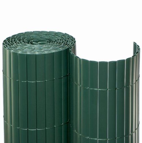 NOOR Sichtschutzmatte PVC 0,9 x 10m in grün I Wasserdichter Sichtschutz aus Kunststoff für Gärten I UV-beständige Zaunmatte für Tennisplätze und Balkone
