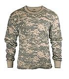 ACU Digital Camouflage Mens Army Digital Camo Long Sleeve T-shirt, Size Large