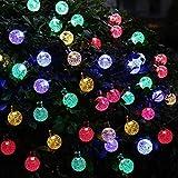 Guirnalda Luces Exterior Solar Cristal bola de la burbuja Luz de control Temporizador Iluminación Ambiental for niñas dormitorio principal fiesta de Halloween decoración de Navidad