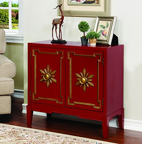 HOMES: Inside + Out Dorris Hallway Chest, Red