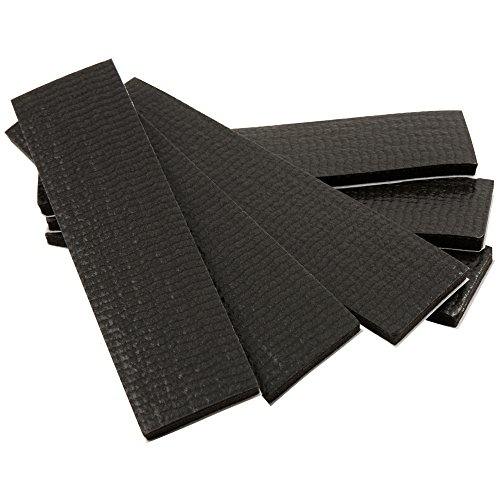 SoftTouch Self-Stick Non-Slip Surface Grip Pads - (6 pieces), 1' x 4' Strip - Black