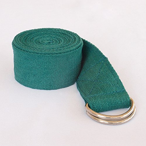Yoga Straps–Superior non-stretch Cotton twill con metal d-rings Buckle | 6' e 8' Lunghezza