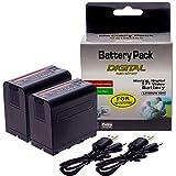 2X NP-F970, NP-F550, NP-F750, NP-F330, NP-F770, NP-F960, Batterie de Rechange 7800mAh KYTD Kit Chargeur et Batteries pour Appareil Photo de Sony (Chargeur avec Entrée Micro-USB et indicateur LED)