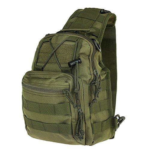 Sijueam® Multifonctionnel Épaule Sac à Dos Backpack Extérieure Camouflage Sacoche Poitrine épaule Sling Bag pour Cyclisme Camping Voyage Randonnée Trekking Sport de Plein Air